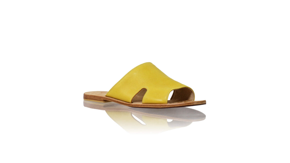 Leather-shoes-Vira 20mm Flat - Yellow-sandals flat-NILUH DJELANTIK-NILUH DJELANTIK