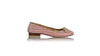 leather shoes Vivi with Tassel Ballet 20mm - Guava & Cream Patent, flats ballet , NILUH DJELANTIK - 1