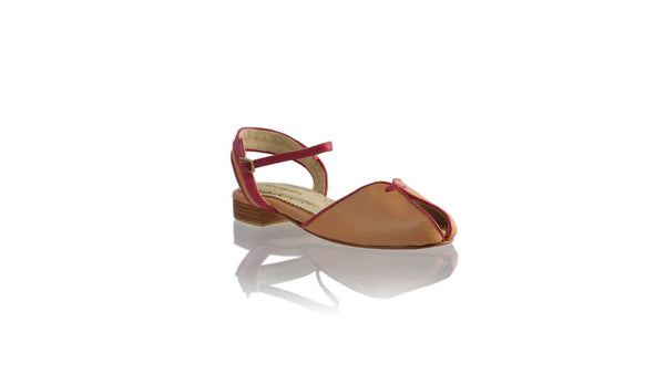 Leather-shoes-Agnes 20mm Flat - Baby Pink & Fuschia-sandals flat-NILUH DJELANTIK-NILUH DJELANTIK