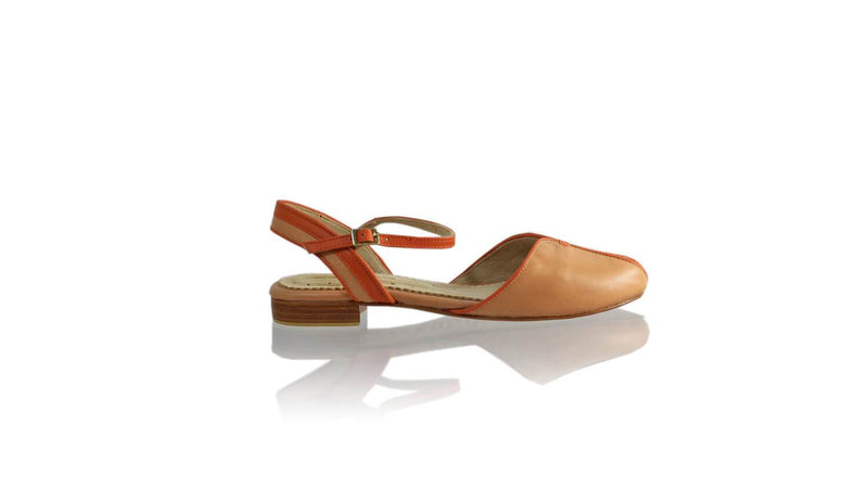 Leather-shoes-Agnes 20mm Flat - Baby Pink & Orange-sandals flat-NILUH DJELANTIK-NILUH DJELANTIK