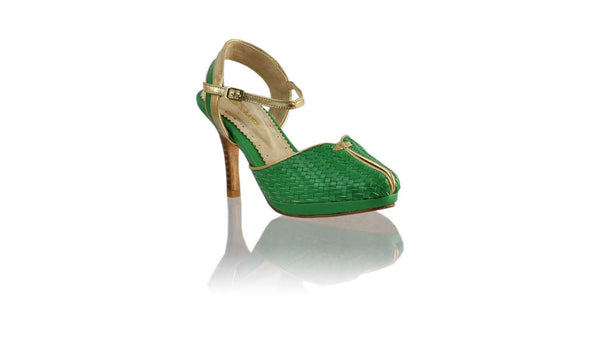 Leather-shoes-Agnes Woven 90mm SH PF - Green & Gold-pumps highheel-NILUH DJELANTIK-NILUH DJELANTIK