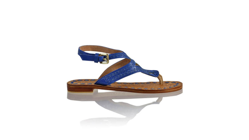 Leather-shoes-Agra 20mm Flats - Blue-sandals flat-NILUH DJELANTIK-NILUH DJELANTIK