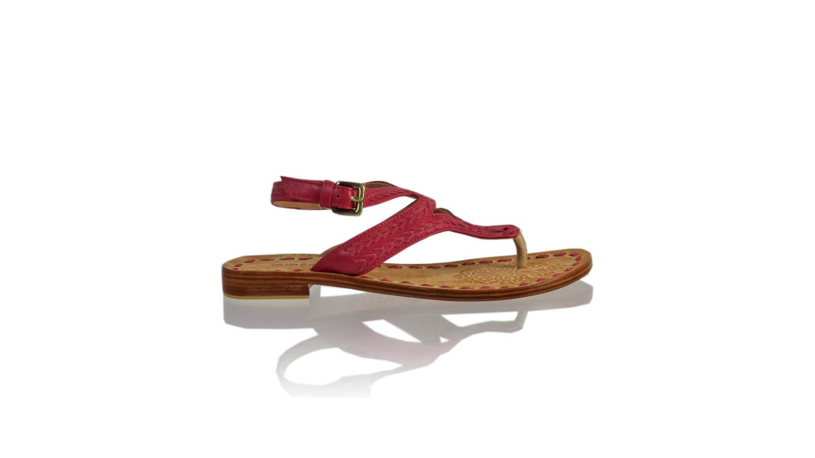 Leather-shoes-Agra 20mm Flats - Fuschia-sandals flat-NILUH DJELANTIK-NILUH DJELANTIK