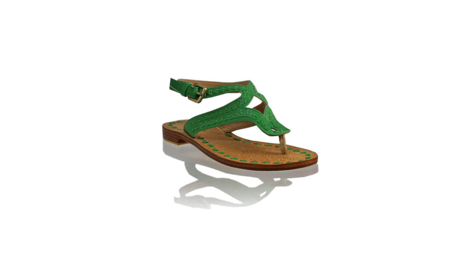 Leather-shoes-Agra 20mm Flats - Green-sandals flat-NILUH DJELANTIK-NILUH DJELANTIK