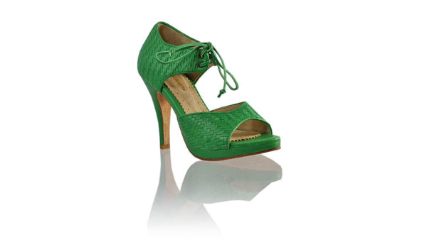 Leather-shoes-Andrea Woven 115mm SH-01 PF - Green-sandals higheel-NILUH DJELANTIK-NILUH DJELANTIK