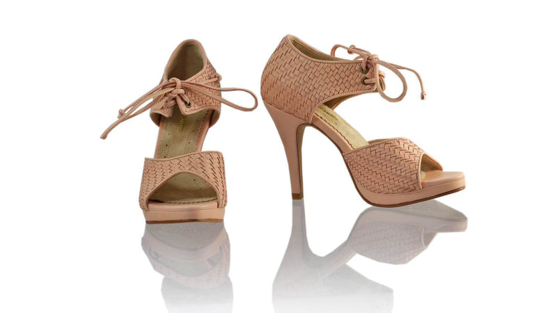 Leather-shoes-Andrea Woven 115mm SH-01 PF - Soft Pink-sandals higheel-NILUH DJELANTIK-NILUH DJELANTIK