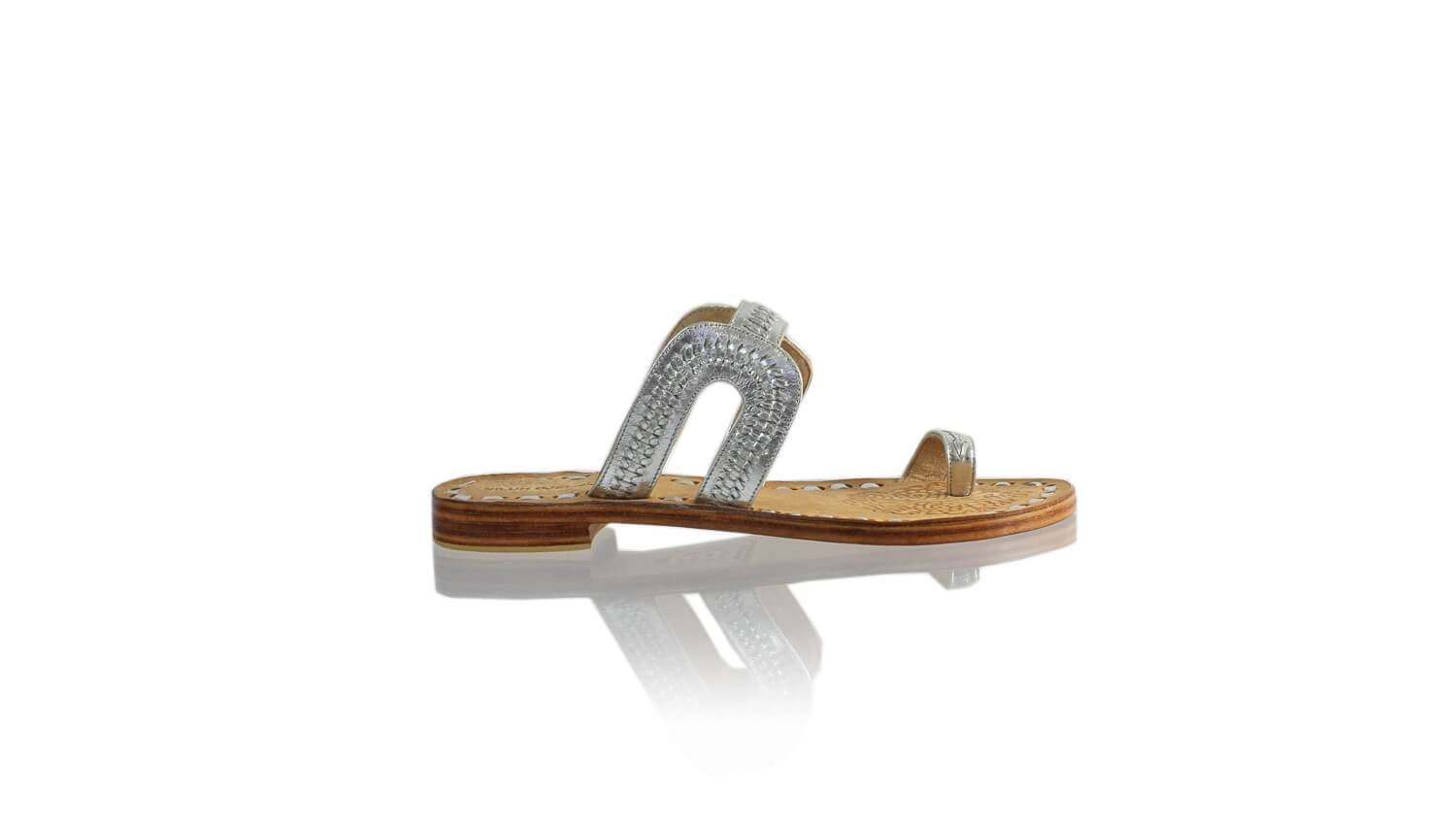Leather-shoes-Andy 20mm Flat - Silver-sandals flat-NILUH DJELANTIK-NILUH DJELANTIK