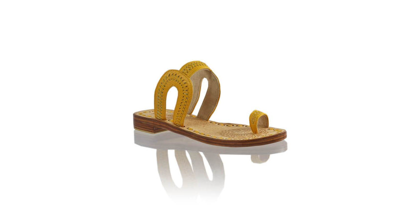 Leather-shoes-Andy 20mm Flat - Yellow-sandals flat-NILUH DJELANTIK-NILUH DJELANTIK