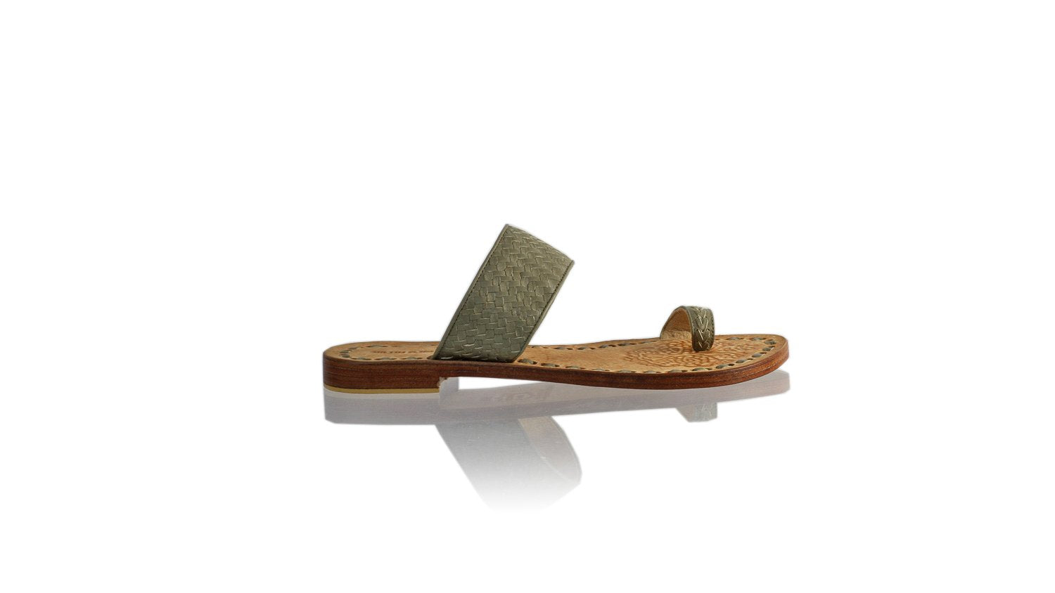 Leather-shoes-Arini 20mm Flat - Grey-sandals flat-NILUH DJELANTIK-NILUH DJELANTIK