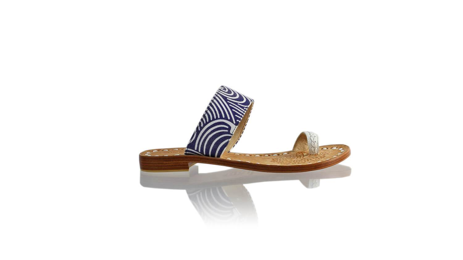 Leather-shoes-Arini 20mm Flat - White & Blue Canvas-sandals flat-NILUH DJELANTIK-NILUH DJELANTIK