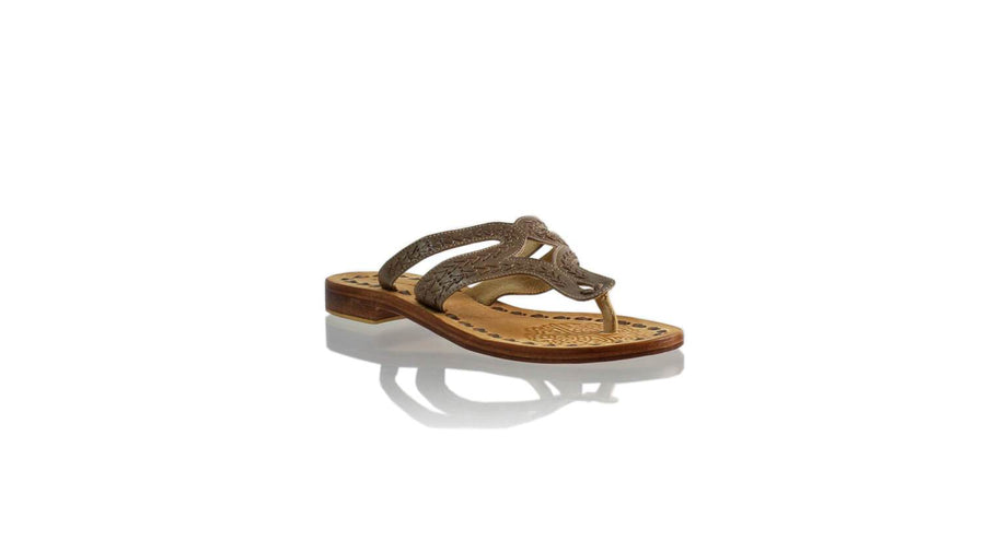 Leather-shoes-Arrah 20mm Flat - Bronze-sandals higheel-NILUH DJELANTIK-NILUH DJELANTIK