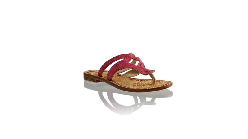 Leather-shoes-Arrah 20mm Flat - Fuschia-sandals higheel-NILUH DJELANTIK-NILUH DJELANTIK
