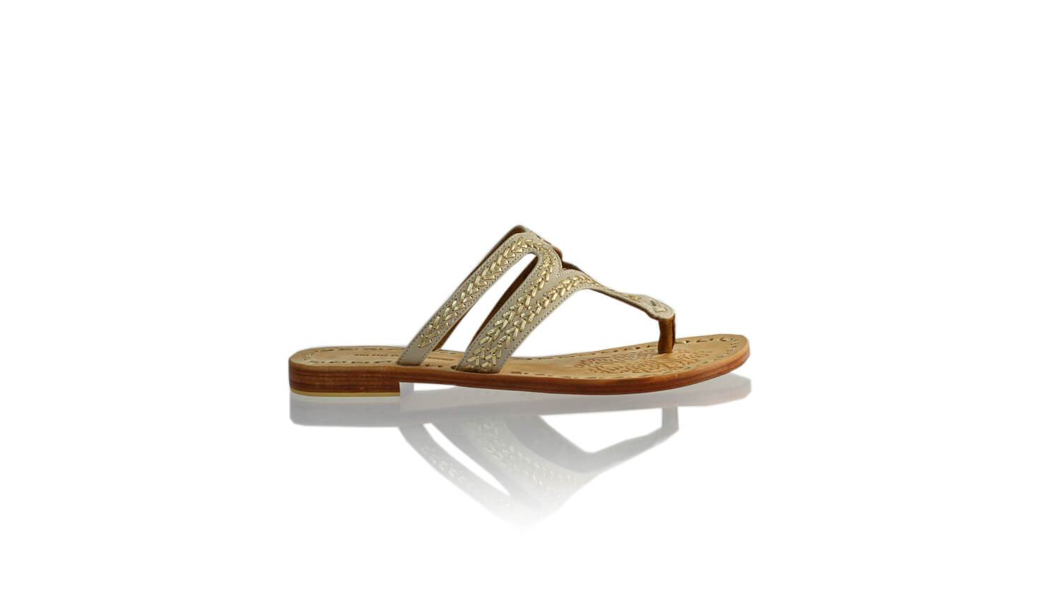 Leather-shoes-Arrah 20mm Flat - Ivory & Gold-sandals higheel-NILUH DJELANTIK-NILUH DJELANTIK