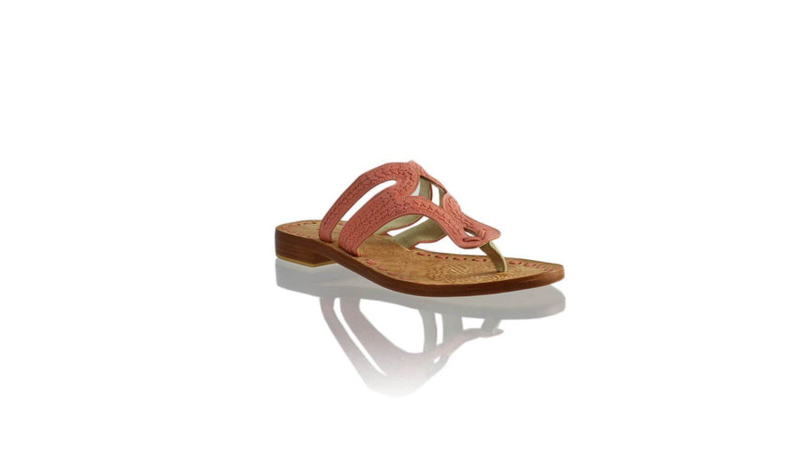 Leather-shoes-Arrah 20mm Flat - Salmon Pink-sandals higheel-NILUH DJELANTIK-NILUH DJELANTIK
