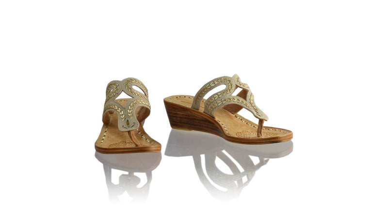 Leather-shoes-Arrah 35mm Wedges - Ivory & Gold-sandals higheel-NILUH DJELANTIK-NILUH DJELANTIK