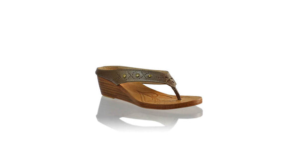 Leather-shoes-Asmiranda 35mm Wedge - Bronze-sandals wedges-NILUH DJELANTIK-NILUH DJELANTIK