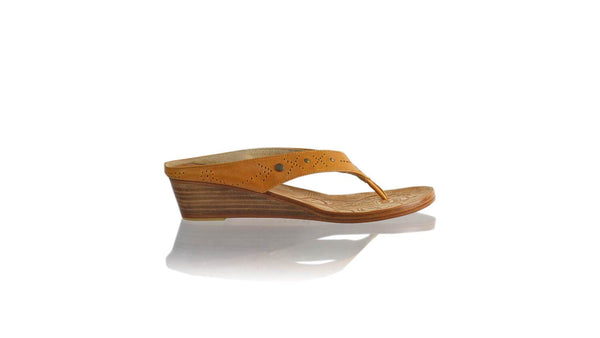 Leather-shoes-Asmiranda 35mm Wedge - Camel-sandals wedges-NILUH DJELANTIK-NILUH DJELANTIK