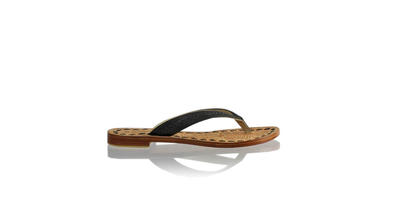 Leather-shoes-Ayu 20mm Flat - Black-sandals flat-NILUH DJELANTIK-NILUH DJELANTIK