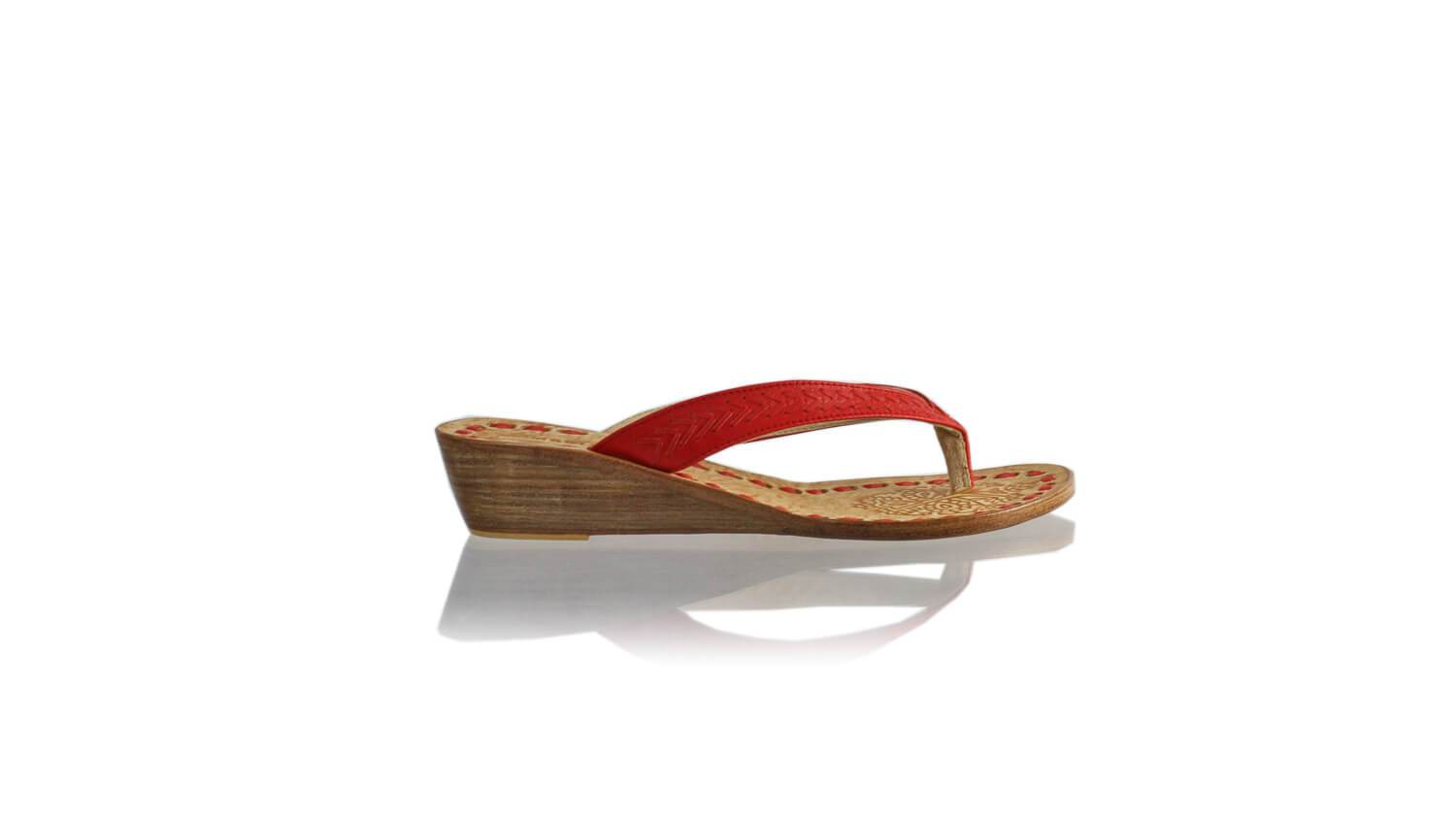 Leather-shoes-Ayu 35mm Wedges - Red-sandals flat-NILUH DJELANTIK-NILUH DJELANTIK