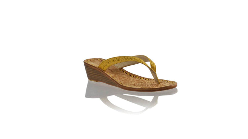 Leather-shoes-Ayu 35mm Wedges - Yellow-sandals Wedge-NILUH DJELANTIK-NILUH DJELANTIK