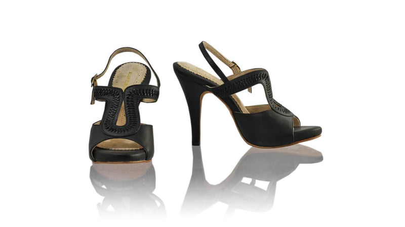 Leather-shoes-Bulan 115mm SH-01 PF - Black-sandals higheel-NILUH DJELANTIK-NILUH DJELANTIK