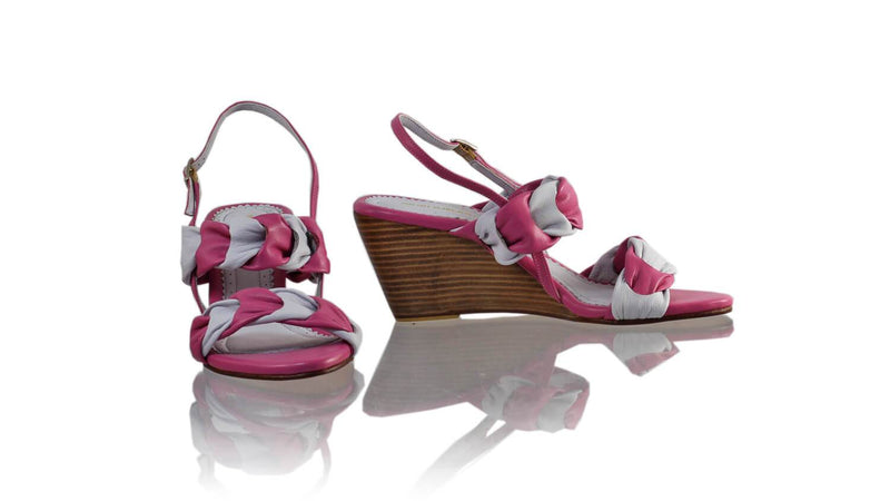 Leather-shoes-Chandra 80mm Wedges - Purple & Light Grey-sandals wedges-NILUH DJELANTIK-NILUH DJELANTIK