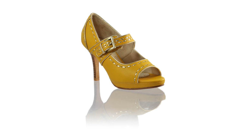 Leather-shoes-Dewi Peeptoe SH PF 90mm - Yellow & Gold-sandals higheel-NILUH DJELANTIK-NILUH DJELANTIK