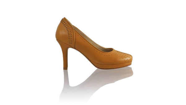 Leather-shoes-Donna 90MM SH-01 PF - All Camel-pumps highheel-NILUH DJELANTIK-NILUH DJELANTIK