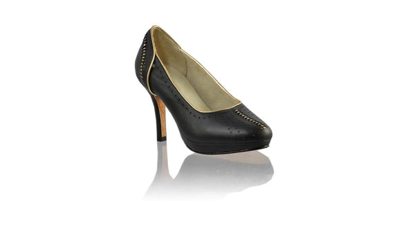 Leather-shoes-Donna 90MM SH-01 PF - Black & Gold-pumps highheel-NILUH DJELANTIK-NILUH DJELANTIK