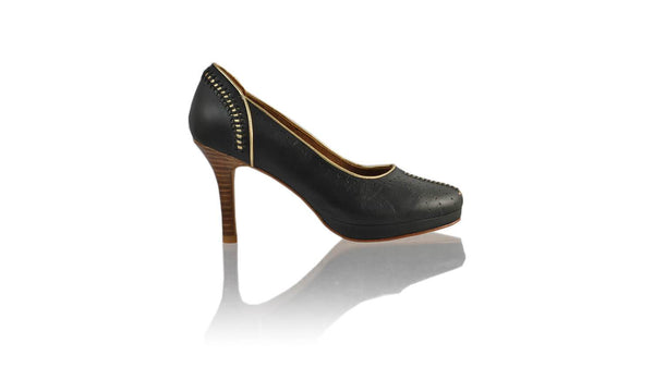 Leather-shoes-Donna 90MM SH PF - Black & Gold-pumps highheel-NILUH DJELANTIK-NILUH DJELANTIK