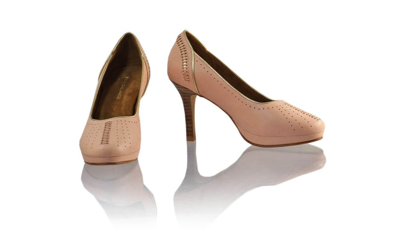 Leather-shoes-Donna 90MM SH PF - Soft Pink & Gold-pumps highheel-NILUH DJELANTIK-NILUH DJELANTIK