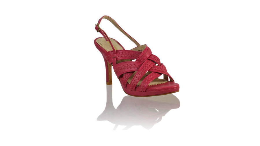 Leather-shoes-Ellok PF 90MM SH-01 - Fuschia-High Heels-NILUH DJELANTIK-NILUH DJELANTIK