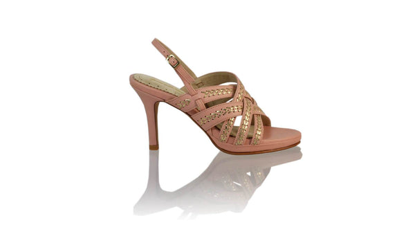 Leather-shoes-Ellok PF 90MM SH-01 - Soft Pink & Gold-High Heels-NILUH DJELANTIK-NILUH DJELANTIK