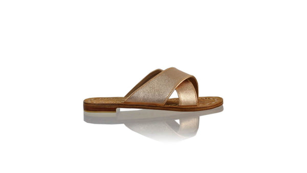 Leather-shoes-Ines 20mm Flat - Rose Gold Textured-sandals flat-NILUH DJELANTIK-NILUH DJELANTIK