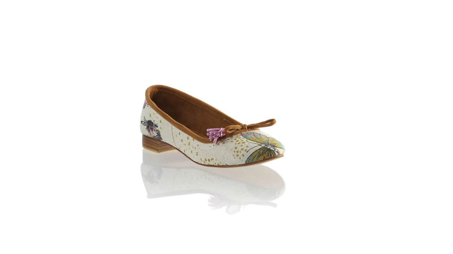 Leather-shoes-Noemi 20mm Ballet - Cream Butterfly Linen-flats ballet-NILUH DJELANTIK-NILUH DJELANTIK