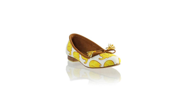 Leather-shoes-Noemi 20mm Ballet - Yellow Elephant Canvas-flats ballet-NILUH DJELANTIK-NILUH DJELANTIK