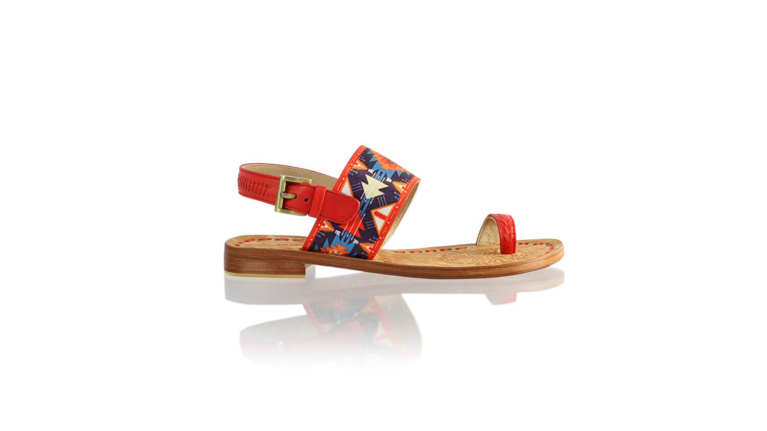 Leather-shoes-Prana 20mm Flat - Red & Red Navy Blue Ribbon-sandals flat-NILUH DJELANTIK-NILUH DJELANTIK