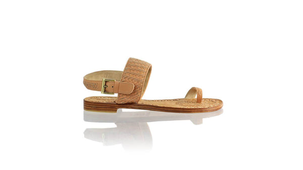 Leather-shoes-Prana Woven 20mm Flat - Baby Pink-sandals flat-NILUH DJELANTIK-NILUH DJELANTIK