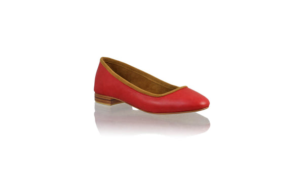 Leather-shoes-Kate 20mm Ballet - Red-flats ballet-NILUH DJELANTIK-NILUH DJELANTIK