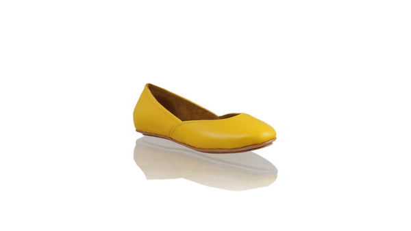 Leather-shoes-Punjab 5mm Ballet - Yellow-flats ballet-NILUH DJELANTIK-NILUH DJELANTIK