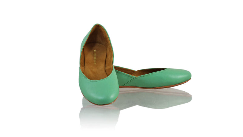 Leather-shoes-Punjab 5mm Ballet - Aqua-flats ballet-NILUH DJELANTIK-NILUH DJELANTIK
