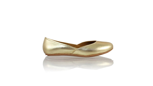 Leather-shoes-Punjab 5mm Ballet - Gold-flats ballet-NILUH DJELANTIK-NILUH DJELANTIK