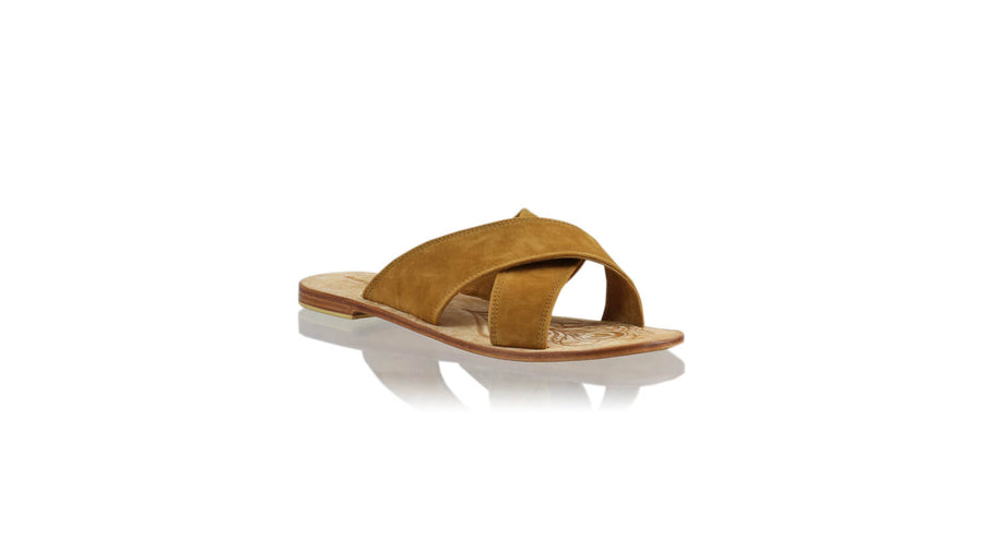 Leather-shoes-Ines 20mm Flat - Brown Microsuede-sandals flat-NILUH DJELANTIK-NILUH DJELANTIK