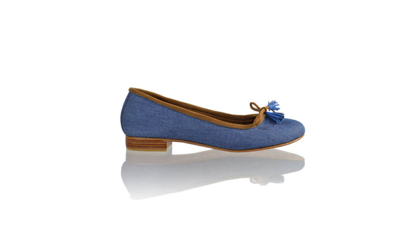 Leather-shoes-Noemi 20mm Ballet - Blue Linen-flats ballet-NILUH DJELANTIK-NILUH DJELANTIK