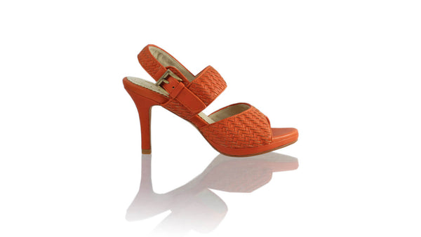 Leather-shoes-Danny PF 90MM SH-01 - Orange-sandals higheel-NILUH DJELANTIK-NILUH DJELANTIK