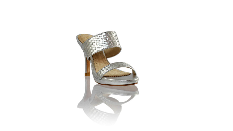 Leather-shoes-Maria 90MM SH-01 PF - Silver-sandals higheel-NILUH DJELANTIK-NILUH DJELANTIK