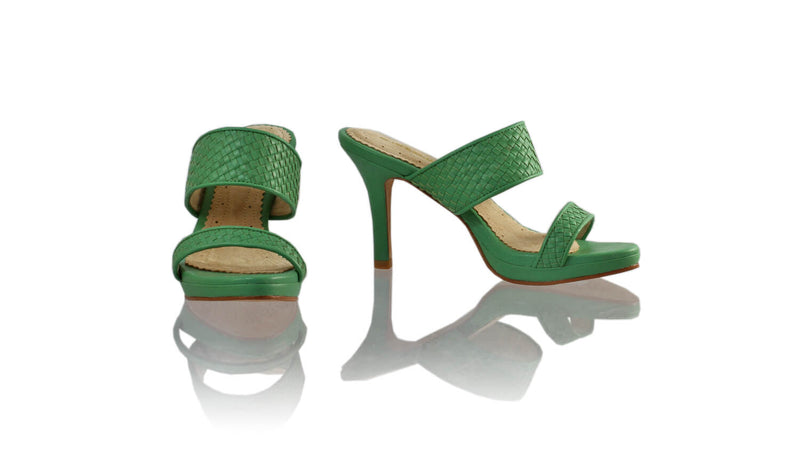 Leather-shoes-Maria 90MM SH-01 PF - Green-sandals higheel-NILUH DJELANTIK-NILUH DJELANTIK