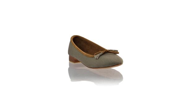 Leather-shoes-Sasha 20mm Ballet - Grey Canvas-flats ballet-NILUH DJELANTIK-NILUH DJELANTIK
