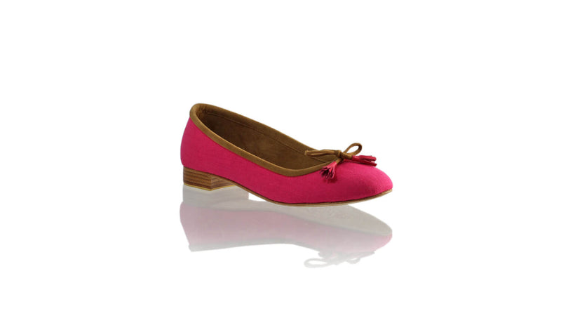 Leather-shoes-Noemi 20mm Ballet - Fuschia Linen-flats ballet-NILUH DJELANTIK-NILUH DJELANTIK