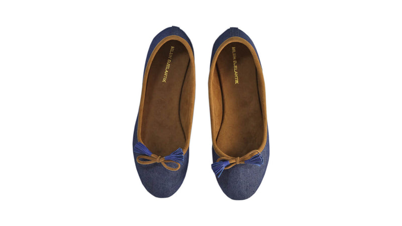 Leather-shoes-Noemi 20mm Ballet - Navy Blue Linen-flats ballet-NILUH DJELANTIK-NILUH DJELANTIK